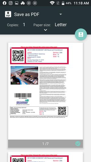 7 Nascar tickets for sale for Sale in Oakland Park, FL