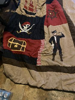 Pirate room decor and full size comforter for Sale in Houston,  TX