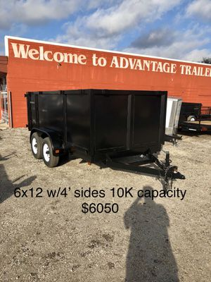 Triple Crown 6x12 Dump Trailer 10K with 4' Sides $6050 for Sale in St. Petersburg, FL