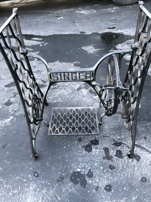 Vintage Singer Sewing Machine Treadle Iron Base for Table for Sale in Canonsburg, PA