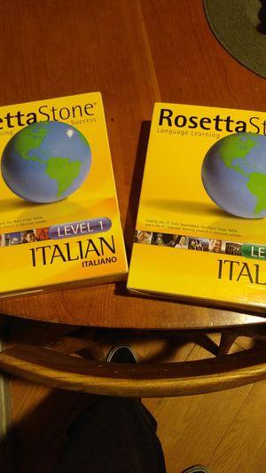 ROSETTA STONE ITALIAN LEVEL 1&2 for Sale in Yuba City, CA