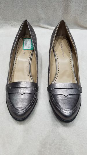 Women's Adrienne Vittadini metallic gray wedge shoes, size 9.5 for Sale in Ithaca, NY