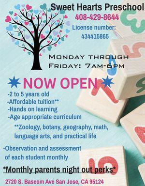 Bay Area Preschool Now Enrolling for Sale in Milpitas, CA