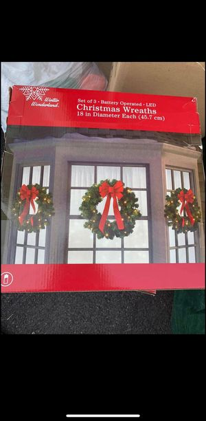 Christmas wreaths (3 per box) for Sale in Hagerstown, MD