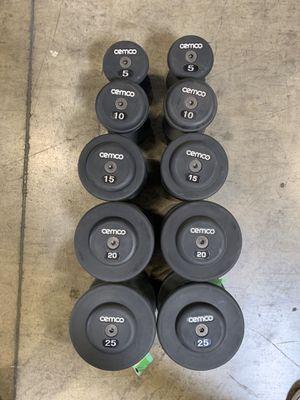 Used gym equipment - Brand New CEMCO dumbbell set 5-25 for Sale in Bellflower, CA