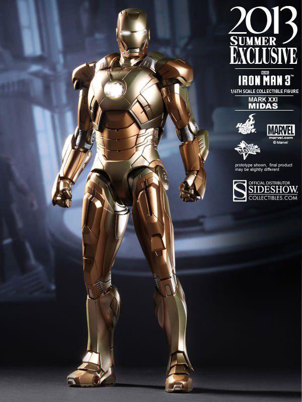 Hot Toys Iron Man 3 Mark XXI Midas Figure