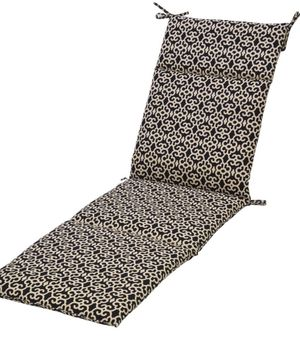 PLANTATION PATIO BLACK TRELLIS OUTDOOR LOUNGE PATIO CHAIR CUSHION for Sale in Houston, TX