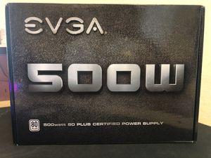 EVGA 500W WHITE W1 NON-MODULAR PSU for Sale in Hayward, CA