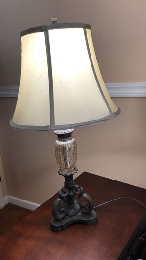 Antique Rustic Beige Table Shade Lamp for Sale in Inkster, MI