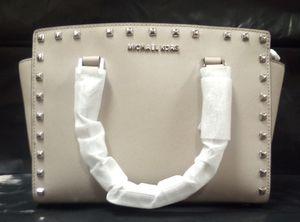 Michael Kors Cement 'Selma Stud' Leather Satchel for Sale in Fairfield, CA