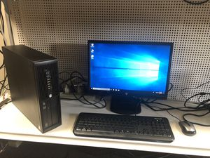 hp desktop win 10 comes with monitor keyboard and mouse for Sale in Medford, MA