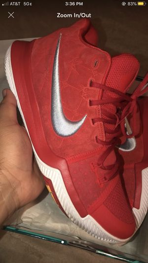 Kyrie 3 Red Suede for Sale in Los Angeles, CA