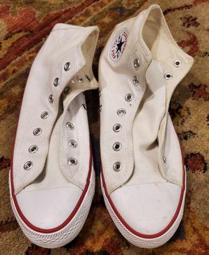 Converse White Hi Top ladies Sz 9/Mens 7.5 No Laces for Sale in Montclair, CA