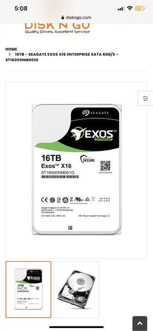 Exos 16tb hard drive for Sale in Saratoga Springs, UT