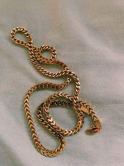 Gold Franco Chain for Sale in Arlington,  VA