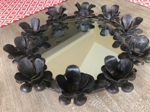 Iron Round Mirrored Candle Holder. for Sale in Waxhaw, NC