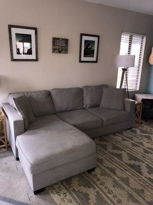 Living Spaces Sofa with Reversible Chaise for Sale in Long Beach, CA