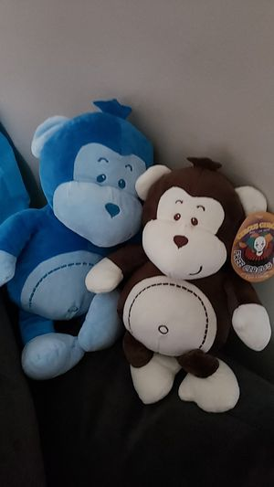 Monkey plush toys from circus circus games, for Sale in Lynwood, CA