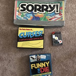 2$ Each - Board Games (sorry,curses,bold,funny Or Die) for Sale in Wheaton, IL