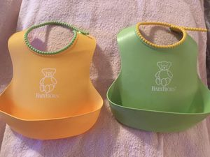 Baby Bjorn silicone bibs, both for one price for Sale in Phoenix, AZ