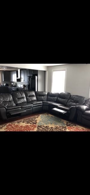 Great condition 2 leather couches and sectional for Sale in Buffalo, NY