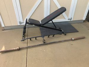 Weight Bench and Bars for Sale in Vista, CA