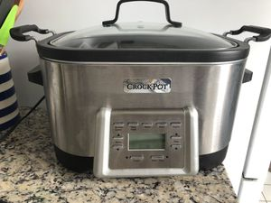Crock Pot 6-Quart 5 in 1 multi cooker with non-stick inner pot, stainless steel for Sale in Arlington, VA