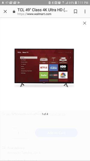 49 inch TCL Roku Tv 4k for Sale in Santa Clara, CA
