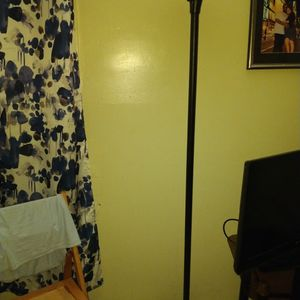 Floor Lamp In Great Condition Turn Switch Twice And On It Gones. Metal Pole. Aski.g For $7 for Sale in Brooklyn, NY