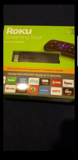 Roku Streaming Stick, Powerful, Portable, Voice Remote for Sale in Manassas, VA