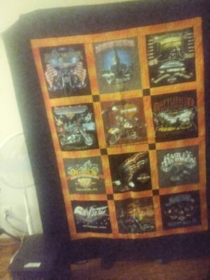 A blanket not just a blanket Harley-Davidson blanket handmade quilt for Sale in Indianapolis, IN
