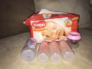 Newborn diapers and bottles for Sale in San Antonio, TX