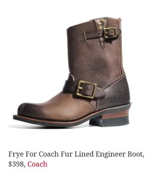 Frye Coach Leather Boots size 9 M, excellent condition, worn twice for Sale in Port Orchard, WA