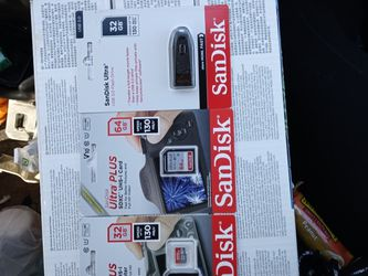 Sd Cards With Adapter & Flash Drives & Batteries for Sale in Anderson,  SC