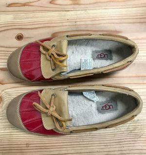 Red leather Ugg loafers for Sale in Phoenix, AZ
