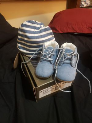 Original packaging timberland crib boots size 3m blue for Sale in Piedmont, SC