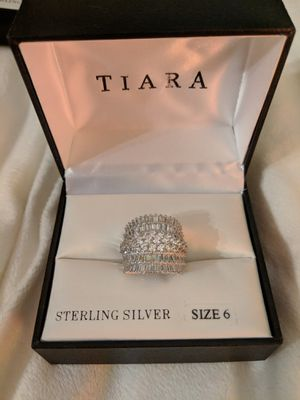 Tiara Sterling Silver Baguette Ring Women's Size 6 for Sale in Manassas, VA