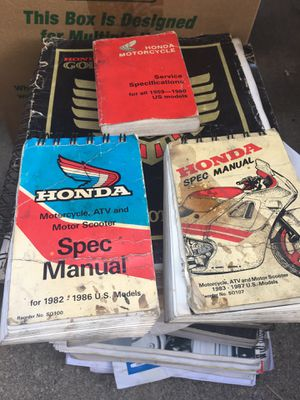 Honda motorcycle Service Manuals for Sale in La Habra Heights, CA