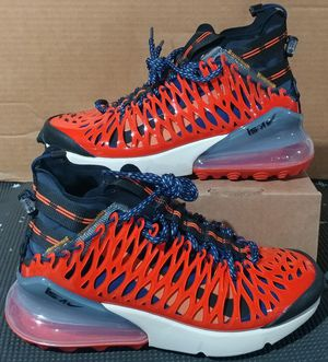 Nike Air Max 270 ISPA Boys Size 5.5 Shoes BQ1918-400 Blue Void Terra Orange NEW for Sale in Brockton, MA