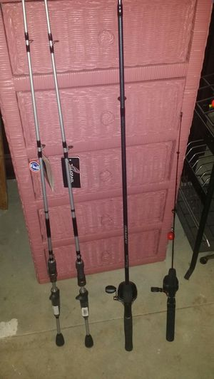 4 fishing rods new Shakespeare fuji rods for Sale in Stow, OH