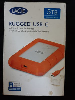 LaCie Rugged USB-C 5TB External Hard Drive for Sale in Los Angeles, CA
