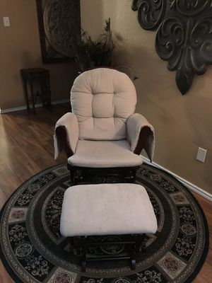 Super comfortable wood rocking chair with rocking ottoman. for Sale in Fort Worth, TX