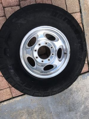 Complete set of 4 F250 aluminum rims and wheels 8 lug 16 inch for Sale in Fort Lauderdale, FL