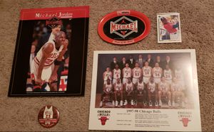 Misc. Vintage Michael Jordan lot. See pic. Includes a pristine Upper Deck rookie baseball card for Sale in Arlington Heights, IL