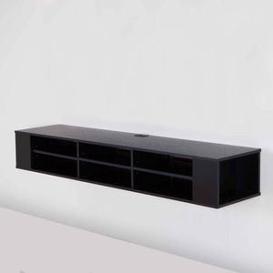 """South Shore City Life 66"""" Wall Mounted TV Stand, Description:Fits a flat panel TV up to 66"""" 6 open storage spaces separated by adjustable shelves, pe for Sale in Houston, TX"""