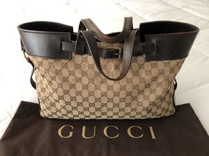 Authentic Gucci GG pattern Tote Bag Canvas Leather for Sale in National City, CA