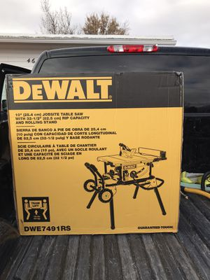 "Brand new dewalt. Table saw 10""in never used in box for Sale in Salt Lake City, UT"