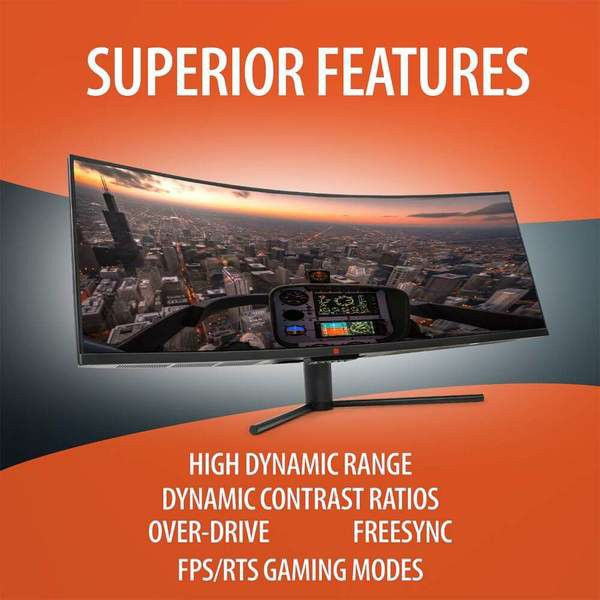 """Deco Gear 43"""" Curved Ultrawide E-LED Gaming Monitor"""