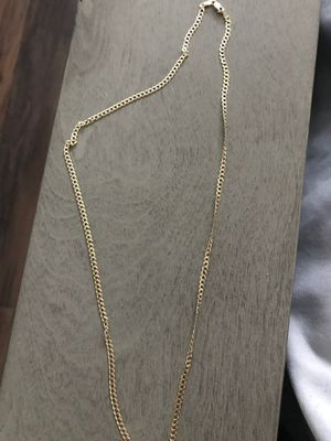 20inch Cuban link 3 mm gold chain for Sale in Concord, NC