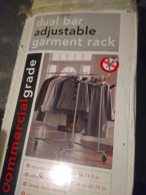 Dual bar adjustable garment rack for Sale in Detroit, MI
